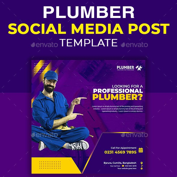 Home Repair Social Media Post Template