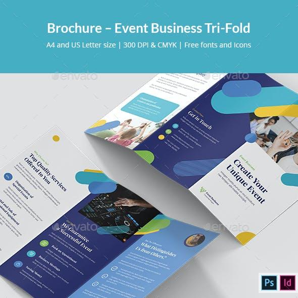 Brochure – Event Business Tri-Fold