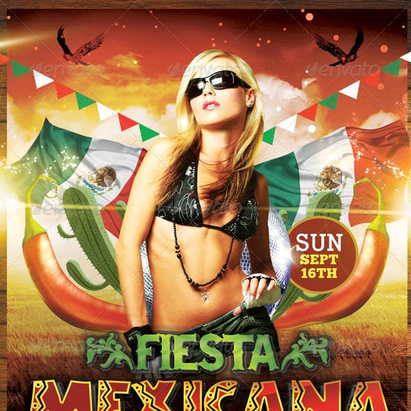 Fiesta Mexicana | Flyer + Facebook Timeline Cover