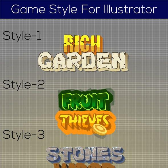 Game Styles for Illustrator (V1)