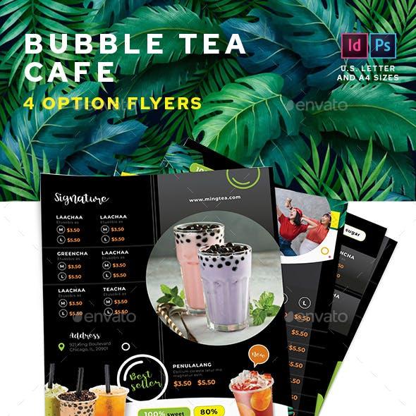 Bubble Tea Menu Flyers – 4 Options