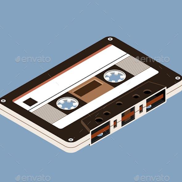 Isometric Music Cassette Tape