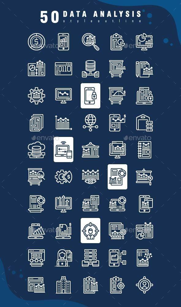 Icon Data Analysis - Business Icons