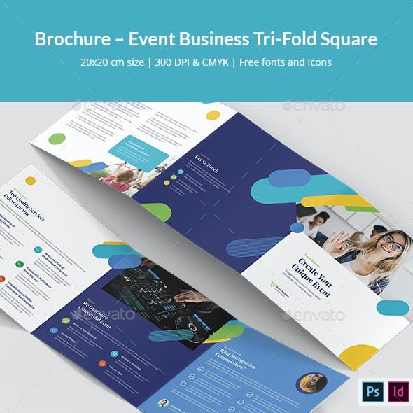 Brochure – Event Business Tri-Fold Square