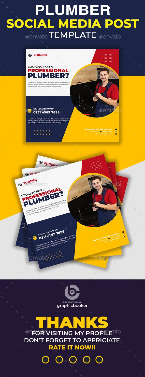 Home Repair Social Media Template - Social Media Web Elements