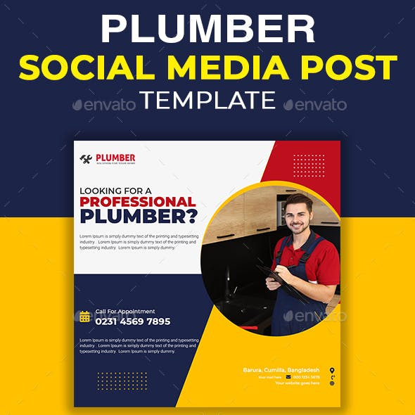 Home Repair Social Media Template