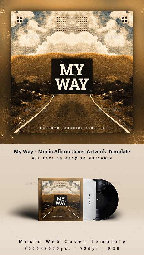 My Way - Music Album Cover Artwork Template - Miscellaneous Social Media