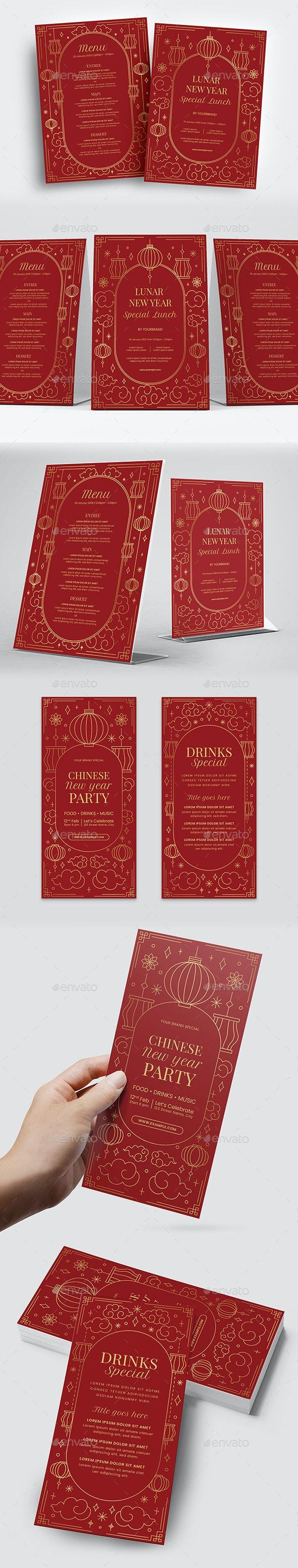 Chinese New Year Menu Template - Food Menus Print Templates
