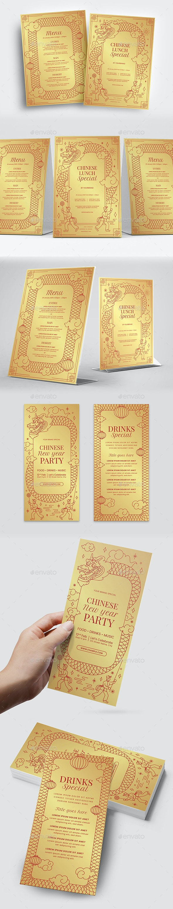 Gold Chinese Flyer - Miscellaneous Events