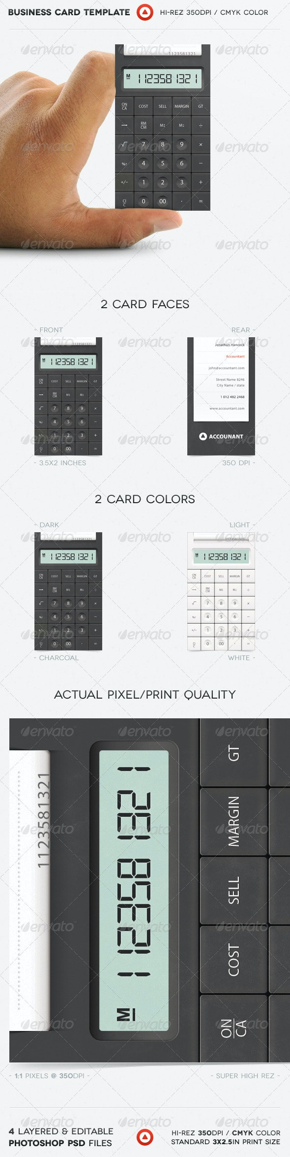 Accountant Business Card - Real Objects Business Cards