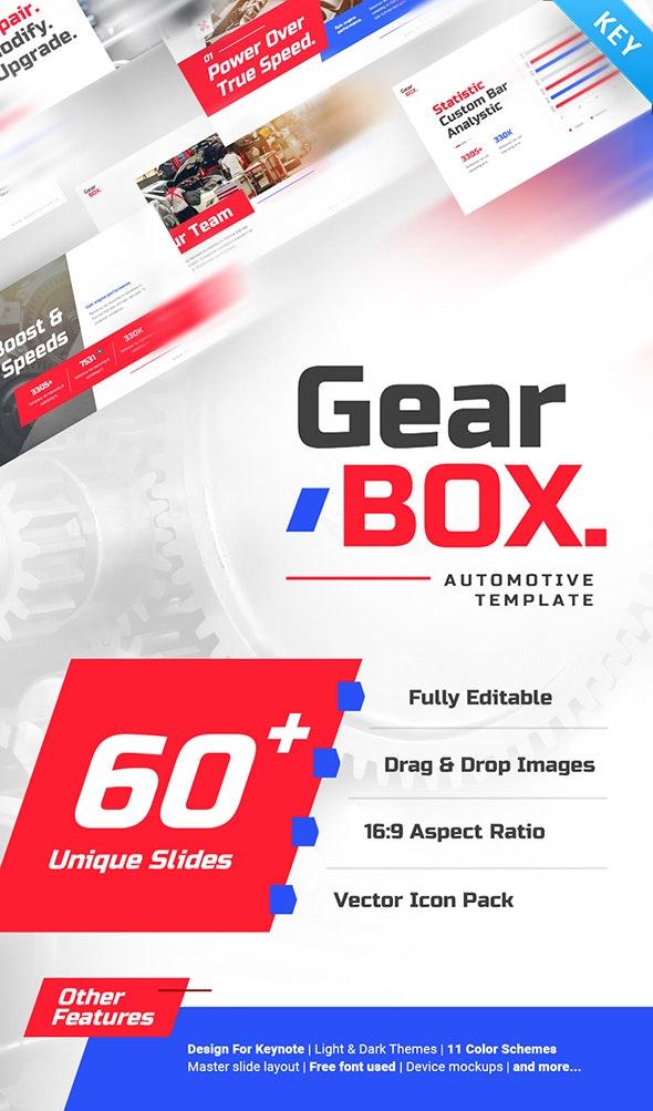 Gear Box Automotive Keynote Presentation - Creative Keynote Templates