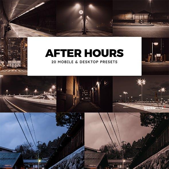 20 After Hours Lightroom Presets & LUTs