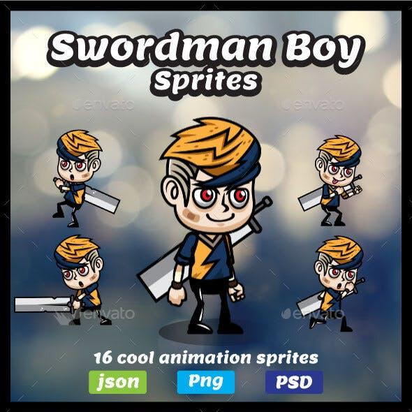 Swordman Boy Game Asset Sprites