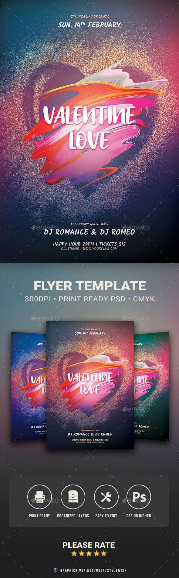 Valentine Love Flyer - Clubs & Parties Events