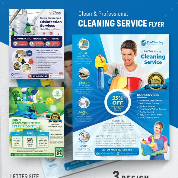 Disinfecting and Cleaning Services Flyer