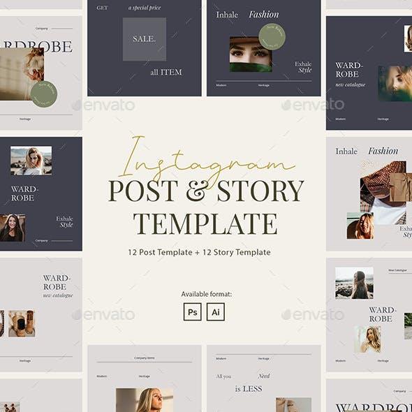 Minimalist Beauty Wardrobe Instagram Template