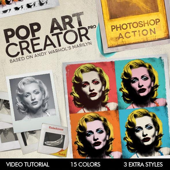 POP ART Creator PRO - Photoshop Action