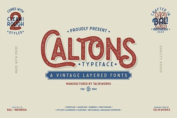 Caltons Typeface - Fonts