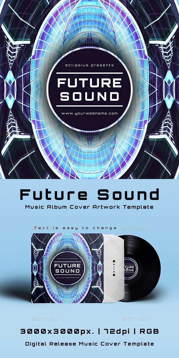 Future Sound Music Album Cover Artwork Template - Miscellaneous Social Media