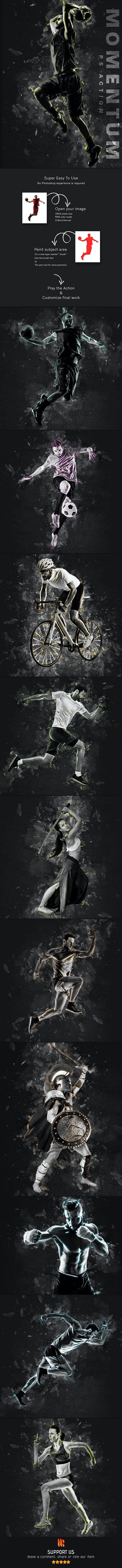 Momentum Photoshop Action - Photo Effects Actions