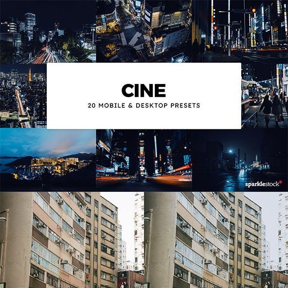 20 Cine Lightroom Presets & LUTs