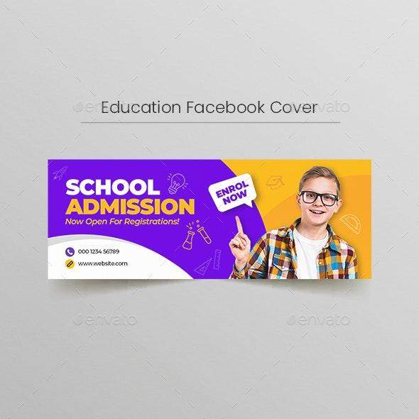 School Education Facebook Cover Template - Facebook Timeline Covers Social Media