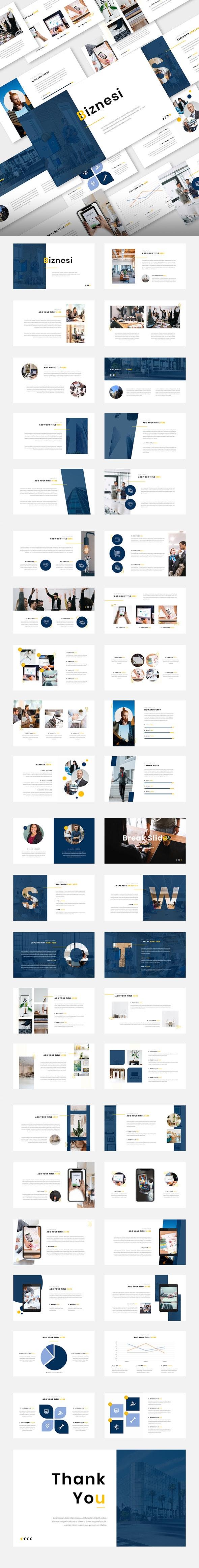 Biznesi – Business Corporate PowerPoint Template - Business PowerPoint Templates