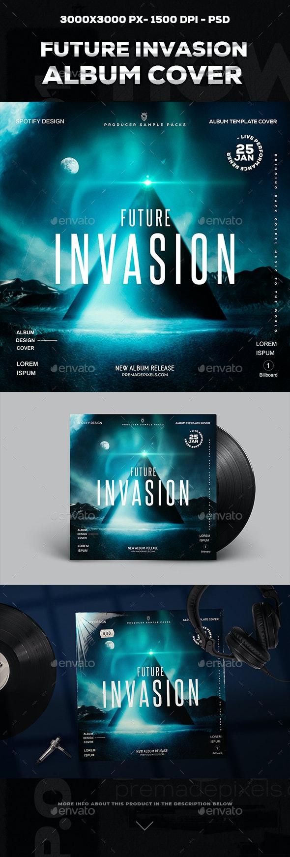 Future Invasion Album Cover - Social Media Web Elements