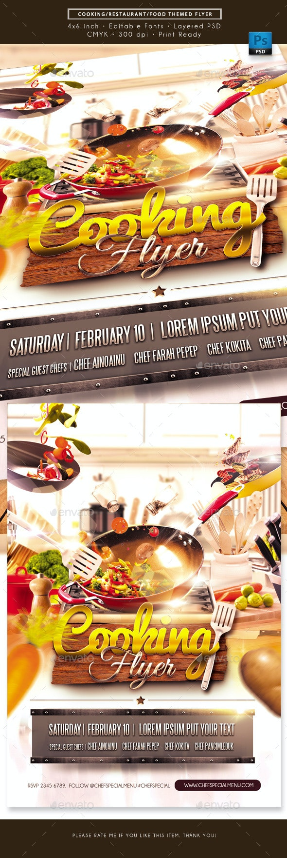 Cooking Food Restaurant Themed Flyer - Miscellaneous Events