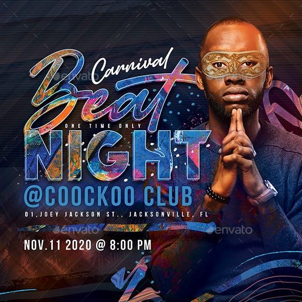 Colorful DJ Beat Night Flyer