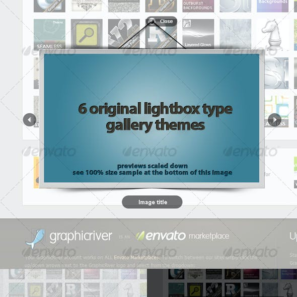 6 Unique Themes for a Lightbox Type Galleries!