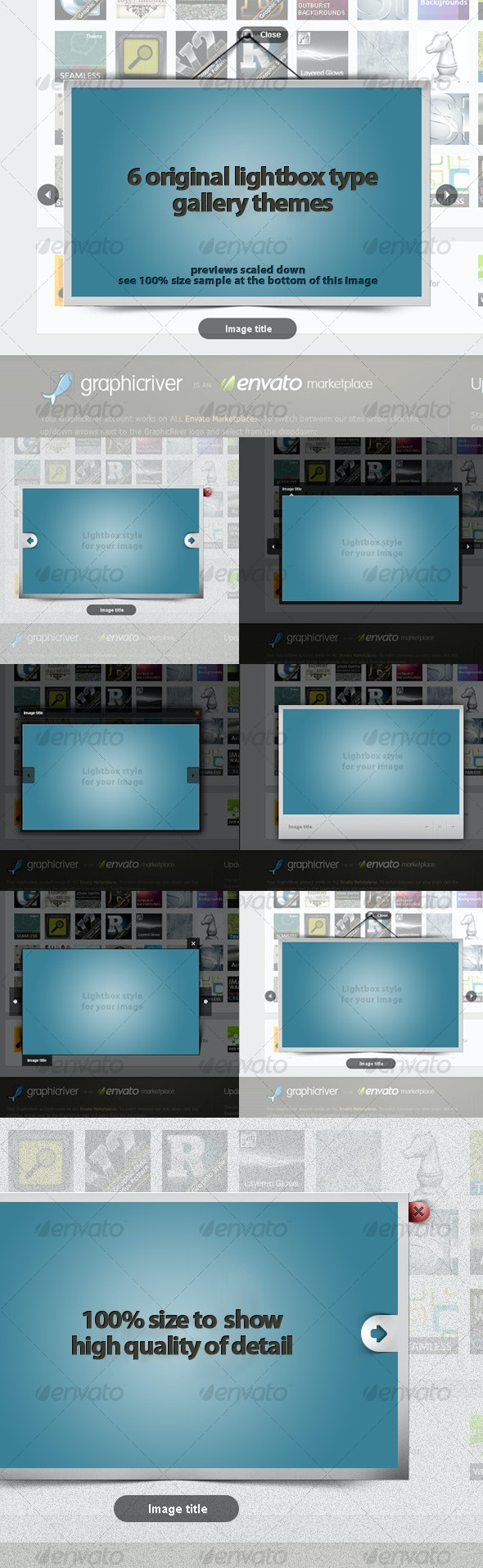 6 Unique Themes for a Lightbox Type Galleries! - Miscellaneous Web Elements
