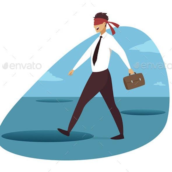 Business Crisis Danger Trap Concept