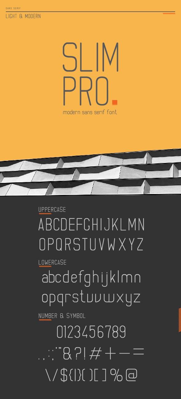 Slim Pro - Light Sans Serif - Sans-Serif Fonts