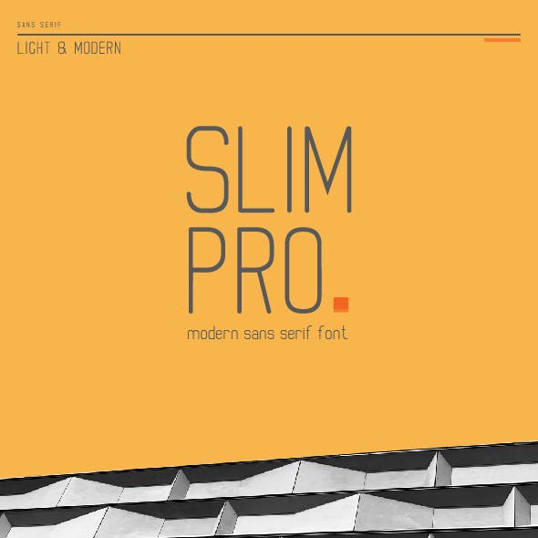 Slim Pro - Light Sans Serif