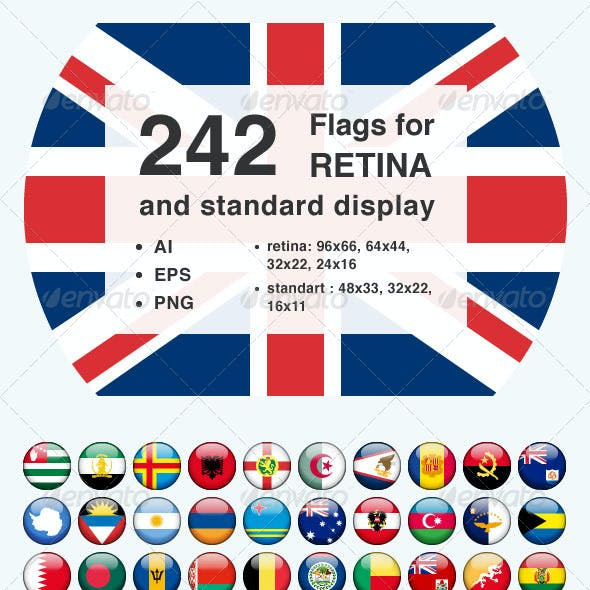 242 Rounded Flags for Retina