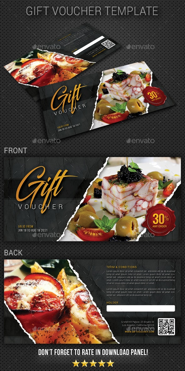 Gift Voucher V23 - Cards & Invites Print Templates
