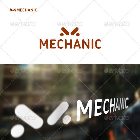 M - Logo. Mechanic