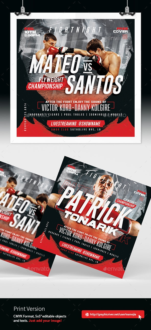 Fight Nigh Flyer - Sports Events