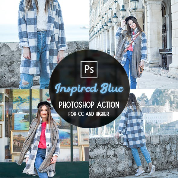 Inspired Blue - Photoshop Action