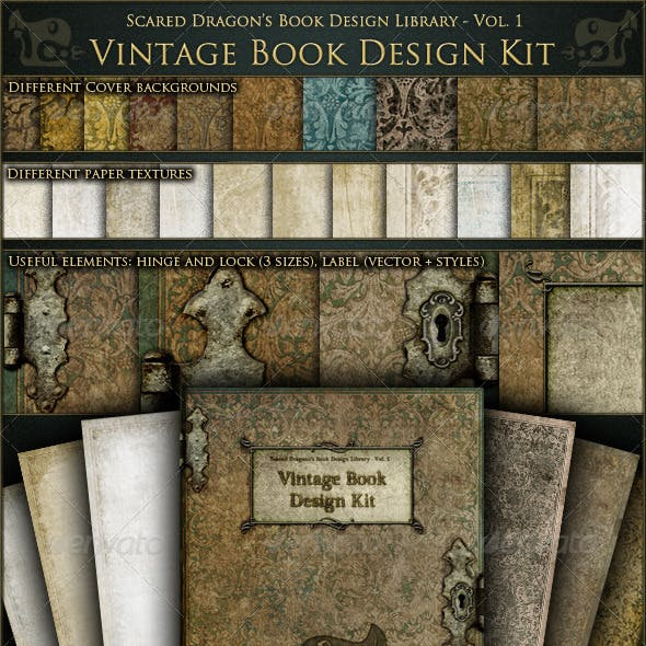 Vintage Book Design Kit