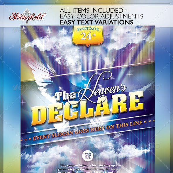 Heaven's Declare Church Flyer Template