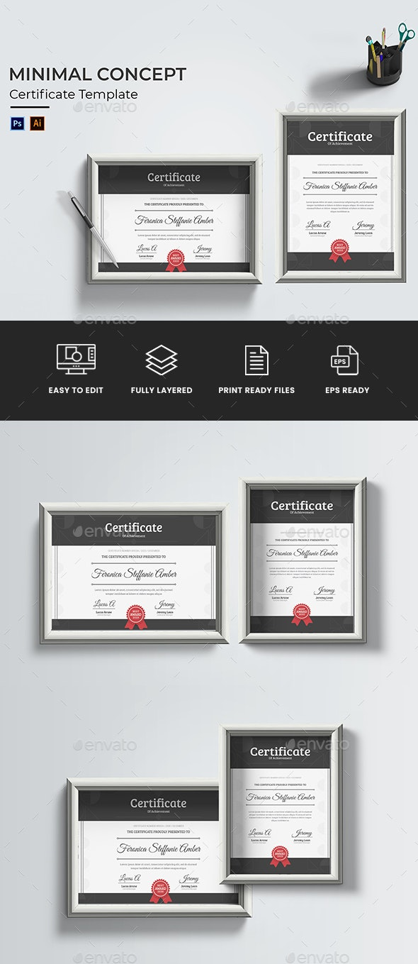 Minimal Concept Certificate - Certificates Stationery