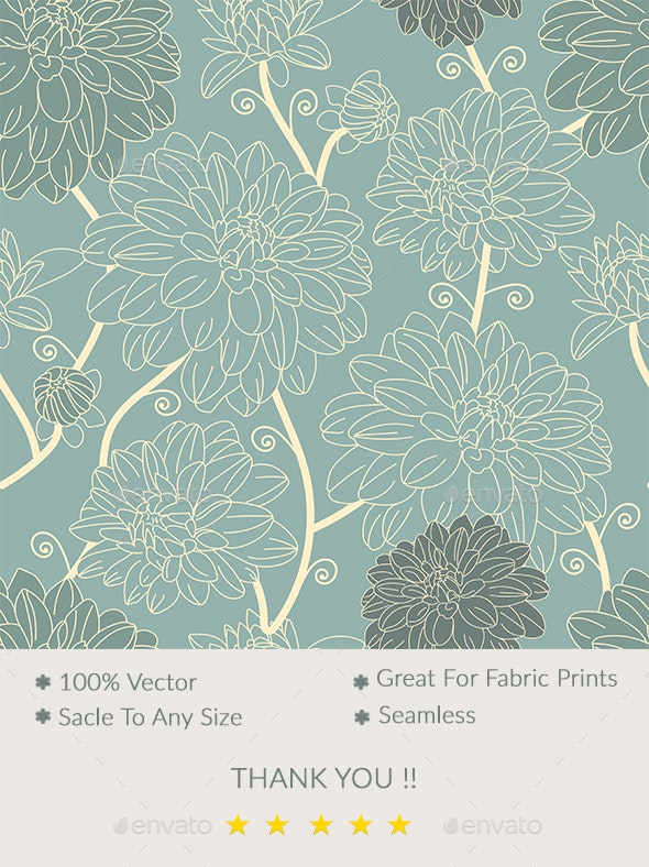 Vintage Seamless Floral Pattern - Patterns Decorative