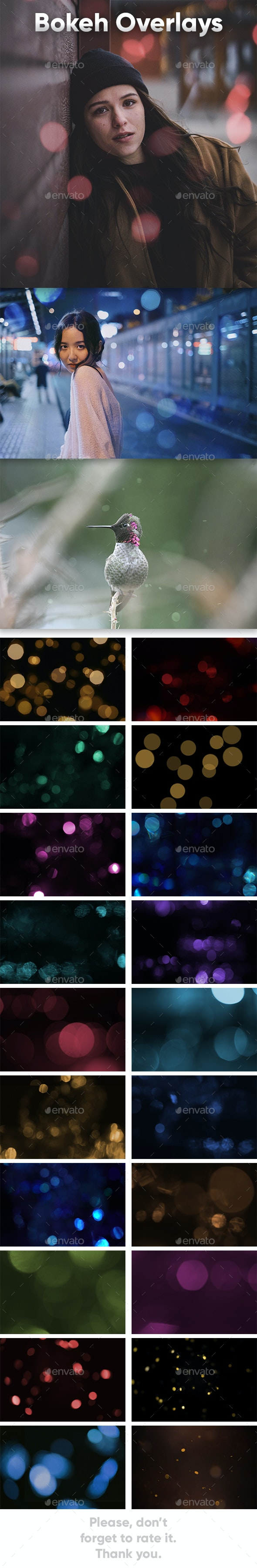 Bokeh Overlays Pack - Photo Templates Graphics
