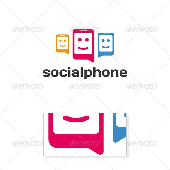 Social Phone Logo Template
