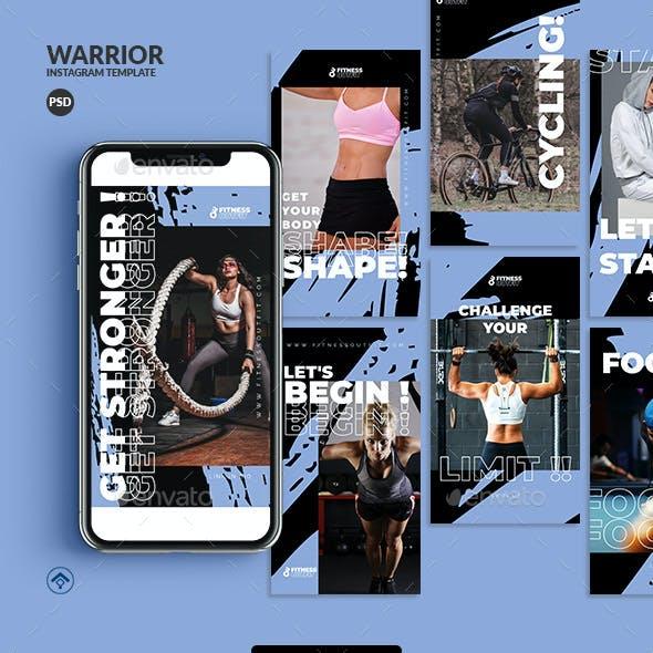 Warrior - Fitness Instagram Stories Template