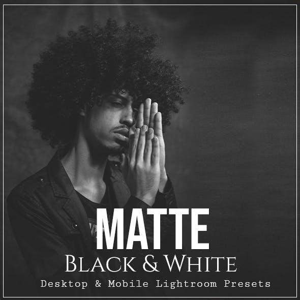 Matte Black & White - Desktop & Mobile Lightroom Presets