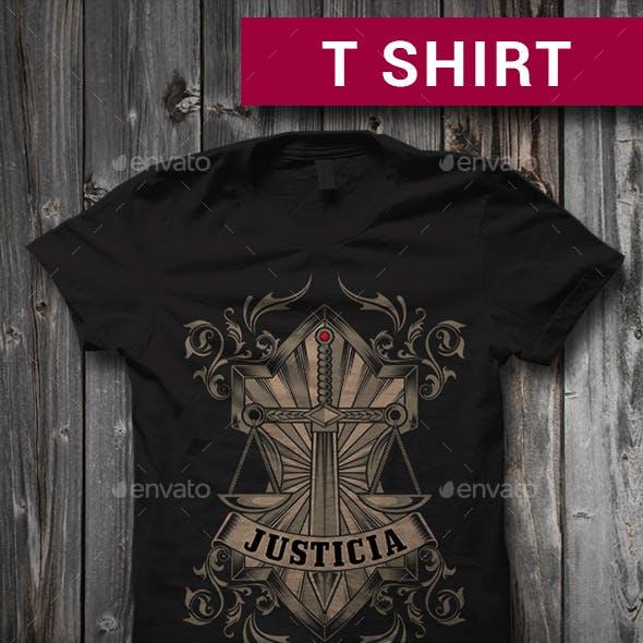 Justicia T-Shirt Graphic Design