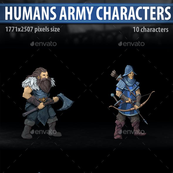 Humans Army Characters